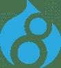 drupal 8 logo isolated